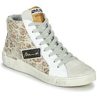 Buty Damskie Trampki wysokie Meline NK5050 Beżowy / Leopard