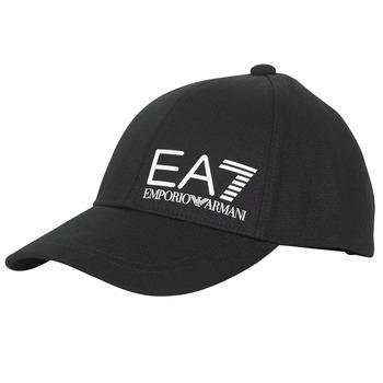 Dodatki Męskie Czapki z daszkiem Emporio Armani EA7 TRAIN CORE ID M LOGO CAP Czarny