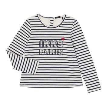 tekstylia Dziewczynka T-shirty z długim rękawem Ikks XR10052 Biały