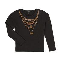 tekstylia Dziewczynka T-shirty z długim rękawem Ikks XR10122 Czarny