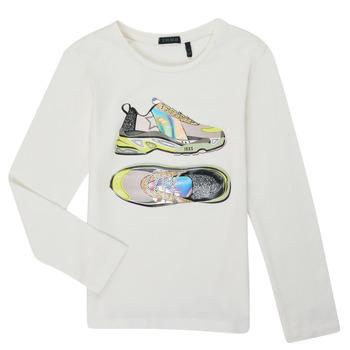 tekstylia Dziewczynka T-shirty z długim rękawem Ikks XR10172 Biały