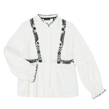 tekstylia Dziewczynka Koszule Ikks XR12022 Biały