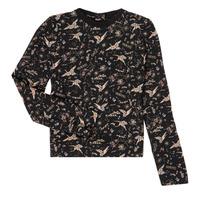 tekstylia Dziewczynka T-shirty z długim rękawem Ikks XR12052 Czarny