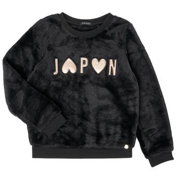 tekstylia Dziewczynka Bluzy Ikks XR15042 Czarny