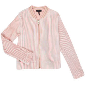 tekstylia Dziewczynka Swetry rozpinane / Kardigany Ikks XR17022 Różowy