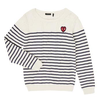 tekstylia Dziewczynka Swetry Ikks XR18032 Biały