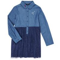 tekstylia Dziewczynka Sukienki krótkie Ikks XR30122 Niebieski