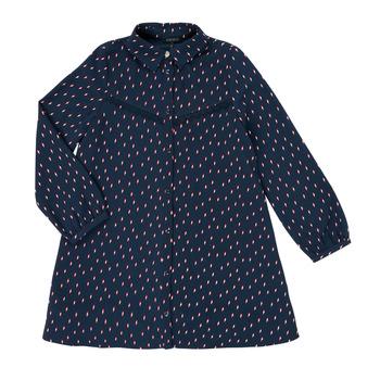 tekstylia Dziewczynka Sukienki krótkie Ikks XR30152 Niebieski