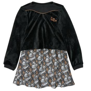 tekstylia Dziewczynka Sukienki krótkie Ikks XR30162 Czarny