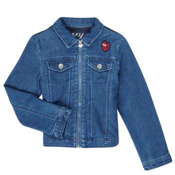 tekstylia Dziewczynka Kurtki jeansowe Ikks XR40052 Niebieski