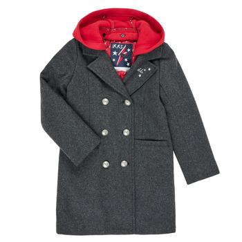 tekstylia Dziewczynka Płaszcze Ikks XR44012 Szary