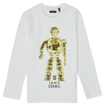 tekstylia Chłopiec T-shirty z długim rękawem Ikks XR10233 Biały