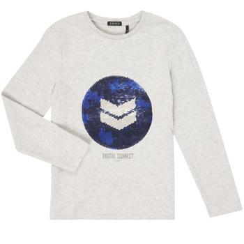tekstylia Chłopiec T-shirty z długim rękawem Ikks XR10273 Szary