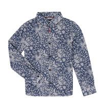 tekstylia Chłopiec Koszule z długim rękawem Ikks XR12023 Niebieski