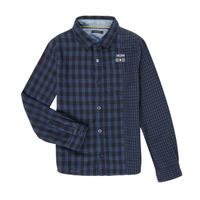 tekstylia Chłopiec Koszule z długim rękawem Ikks XR12123 Niebieski