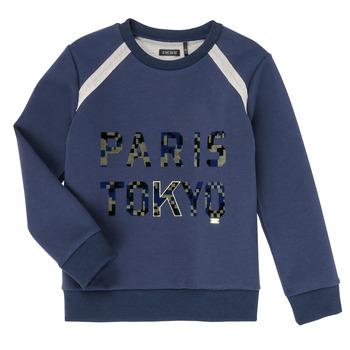 tekstylia Chłopiec Bluzy Ikks XR15093 Niebieski