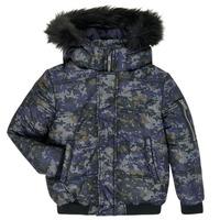 tekstylia Chłopiec Kurtki pikowane Ikks XR41133 Niebieski