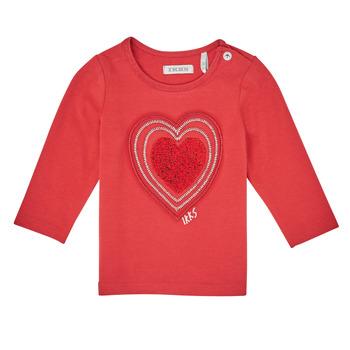 tekstylia Dziewczynka T-shirty z długim rękawem Ikks XR10010 Pomarańczowy