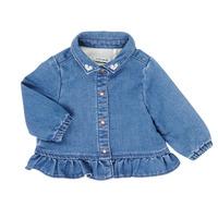 tekstylia Dziewczynka Koszule Ikks XR12030 Niebieski