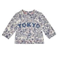 tekstylia Dziewczynka Bluzy Ikks XR15020 Biały