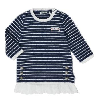 tekstylia Dziewczynka Sukienki krótkie Ikks XR30030 Biały