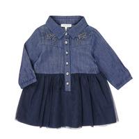 tekstylia Dziewczynka Sukienki krótkie Ikks XR30150 Niebieski
