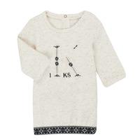 tekstylia Dziewczynka Sukienki krótkie Ikks XR30180 Beżowy