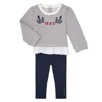 tekstylia Dziewczynka Komplet Ikks XR36030 Marine / Biały