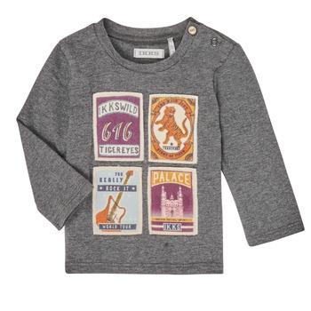 tekstylia Chłopiec T-shirty z długim rękawem Ikks XR10081 Szary