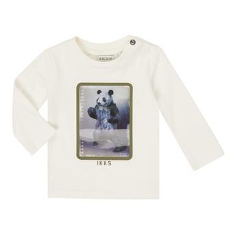tekstylia Chłopiec T-shirty z długim rękawem Ikks XR10101 Biały