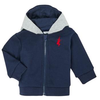 tekstylia Chłopiec Swetry rozpinane / Kardigany Ikks XR17001 Niebieski