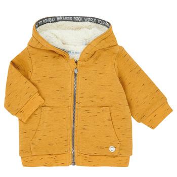 tekstylia Chłopiec Swetry rozpinane / Kardigany Ikks XR17031 Żółty