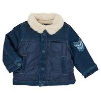 tekstylia Chłopiec Kurtki krótkie Ikks XR40031 Niebieski