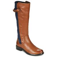 Buty Damskie Kozaki Caprice 25504-387 Cognac / Niebieski
