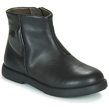 Buty Dziewczynka Buty za kostkę Camper DTT1 Czarny