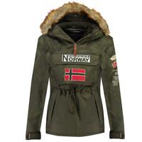 tekstylia Chłopiec Kurtki ocieplane Geographical Norway BARMAN BOY Kaki