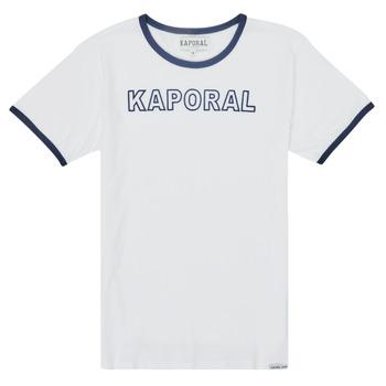 tekstylia Chłopiec T-shirty z krótkim rękawem Kaporal ONYX Biały