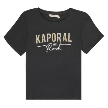 tekstylia Dziewczynka T-shirty z krótkim rękawem Kaporal MAPIK Czarny