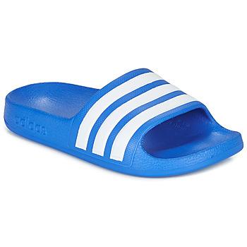Buty Chłopiec klapki adidas Performance ADILETTE AQUA K Niebieski / Biały