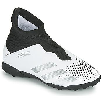 Buty Dziecko Piłka nożna adidas Performance PREDATOR 20.3 LL TF Biały