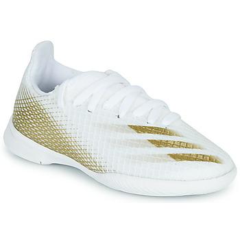 Buty Dziecko Piłka nożna adidas Performance X GHOSTED.3 IN J Biały