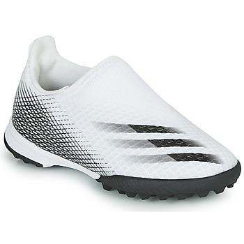 Buty Dziecko Piłka nożna adidas Performance X GHOSTED.3 LL TF J Biały