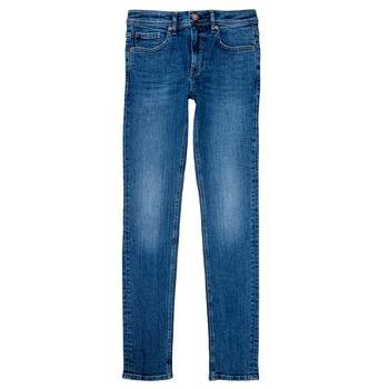 tekstylia Chłopiec Jeansy straight leg Teddy Smith FLASH Niebieski