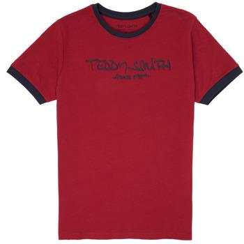 tekstylia Chłopiec T-shirty z krótkim rękawem Teddy Smith TICLASS 3 Czerwony