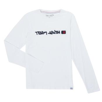 tekstylia Chłopiec T-shirty z długim rękawem Teddy Smith CLAP Biały