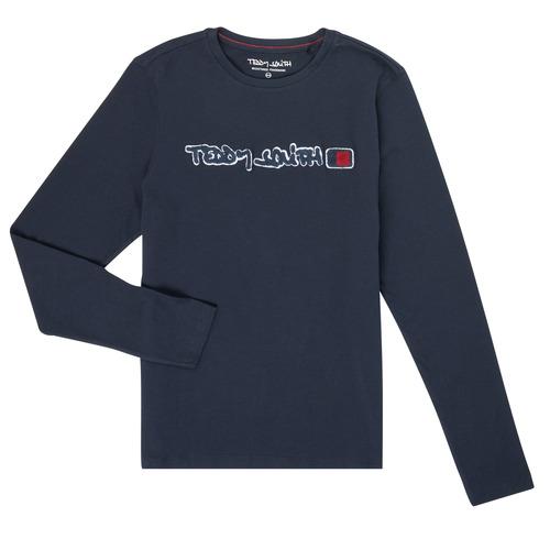 tekstylia Chłopiec T-shirty z długim rękawem Teddy Smith CLAP Marine