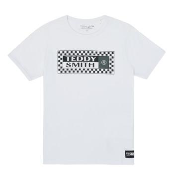 tekstylia Chłopiec T-shirty z krótkim rękawem Teddy Smith VANY Biały