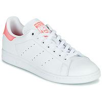 Buty Damskie Trampki niskie adidas Originals STAN SMITH W Biały / Różowy