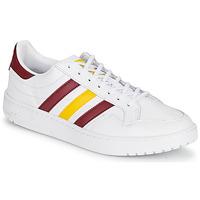 Buty Trampki niskie adidas Originals TEAM COURT Biały / Bordeaux / Żółty