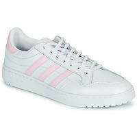 Buty Damskie Trampki niskie adidas Originals TEAM COURT W Biały / Różowy